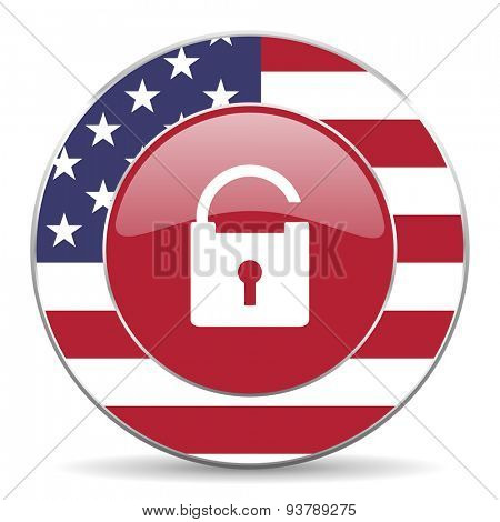 padlock american icon original modern design for web and mobile app on white background
