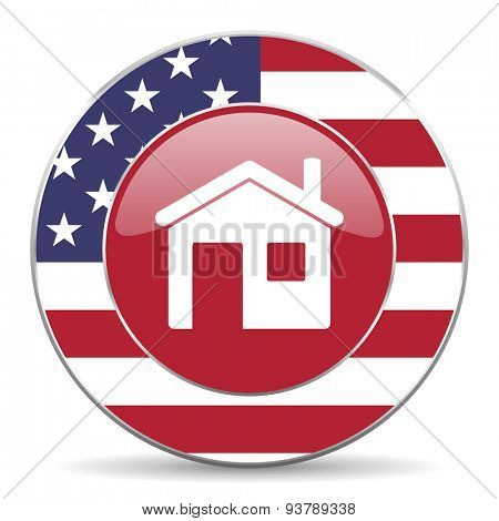 house american icon original modern design for web and mobile app on white background