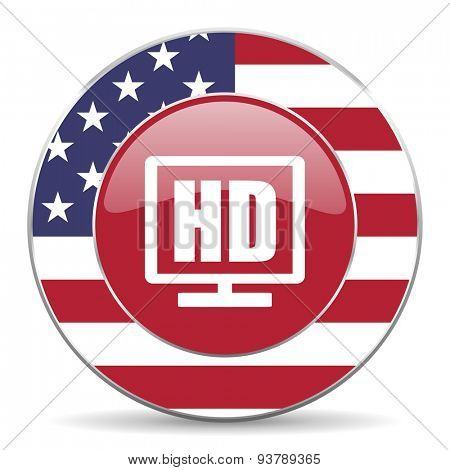 hd display american icon original modern design for web and mobile app on white background