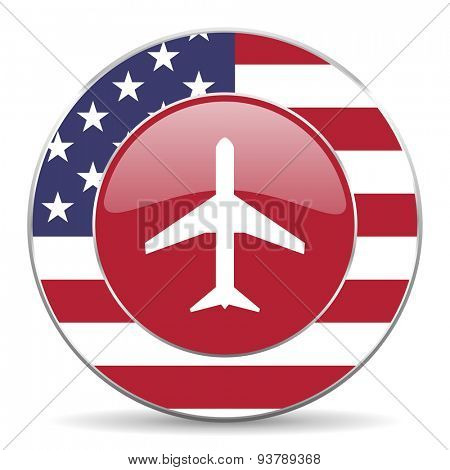 plane american icon original modern design for web and mobile app on white background