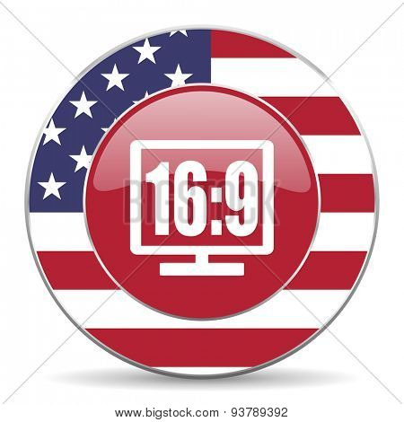 3d display american icon original modern design for web and mobile app on white background