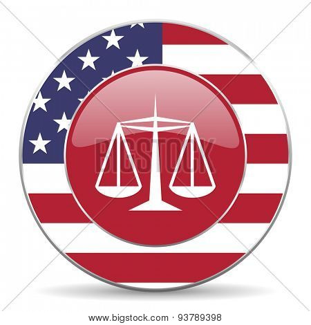 justice american icon original modern design for web and mobile app on white background