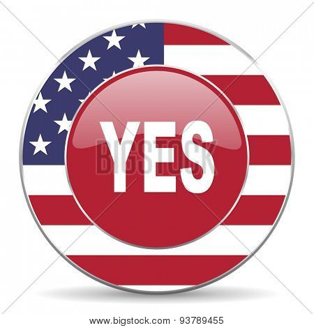 yes american icon original modern design for web and mobile app on white background