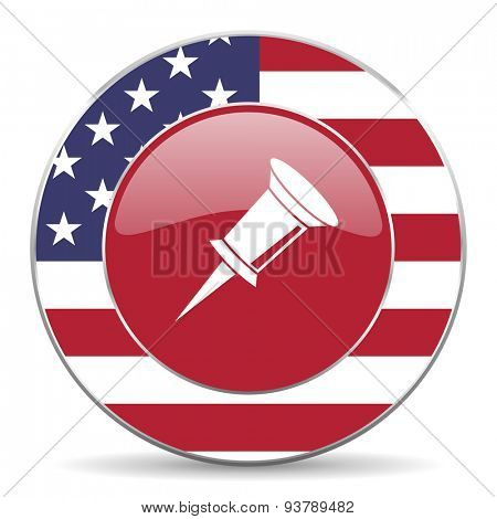 pin american icon original modern design for web and mobile app on white background