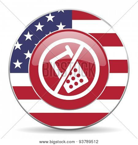 no phone american icon original modern design for web and mobile app on white background
