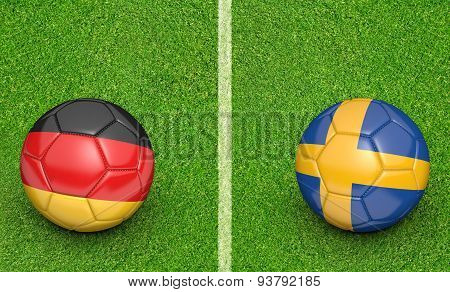 Teams Germany vs Sweden football tournament match