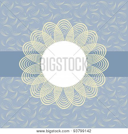 Card With Floral Pattern.