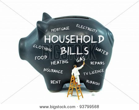 Household Bills Piggy Bank