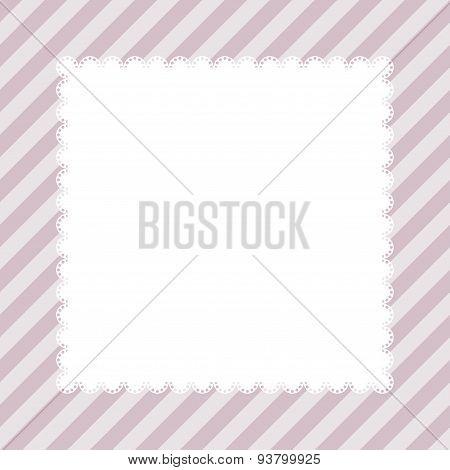 Vintage Greeting Card Template. Invitation. Vector Illustration