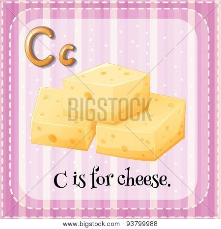 Flashcard letter C is for cheese