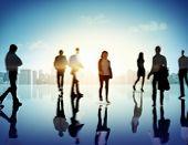 pic of pedestrians  - Business People Commuter Corporate Cityscape Pedestrian Concept - JPG