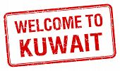 image of kuwait  - welcome to Kuwait red grunge square stamp - JPG