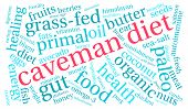 pic of fat-guts  - Caveman diet word cloud on a white background - JPG