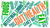 foto of enzyme  - Gut health word cloud on a white background - JPG