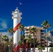 pic of lighthouse  - Marbella lighthouse - JPG