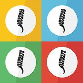 Постер, плакат: Spine icon flat design on different color background lateral view