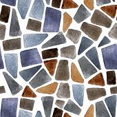 picture of tile cladding  - Watercolor seamless stone texture for your designs - JPG
