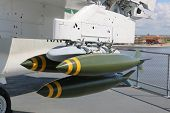 pic of stelles  - Jet on aircraft carrier carrrying missiles use in time of war - JPG