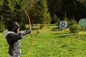 pic of archer  - Young girl archer - JPG