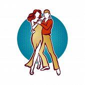 stock photo of tango  - Illustration of tango dancers - JPG