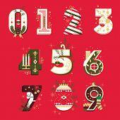picture of kiddie  - Vector Christmas Numbers  - JPG