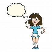 foto of maids  - cartoon worried maid with thought bubble - JPG