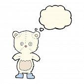 picture of bear cub  - cartoon polar bear cub with thought bubble - JPG