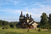pic of backwoods  - Church of All Saints Resplendent in the Siberian Land was built in 2002 - JPG