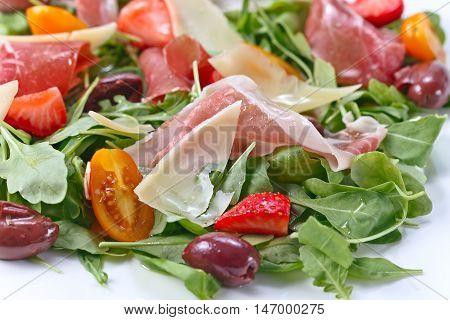 Salad With Jamon And Cheese