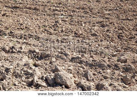 Texture of a plowed field, Zaragoza Province, Aragon, Spain.