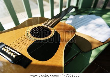Guitar And Note Sheets