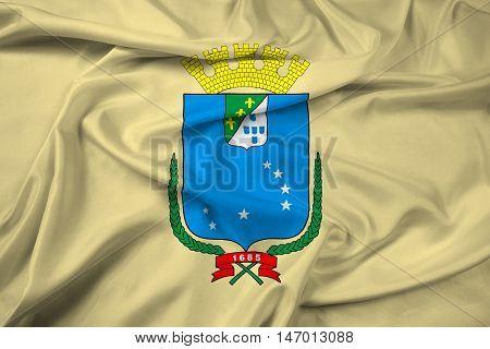 Waving Flag Of Sao Luis, Maranhao, Brazil