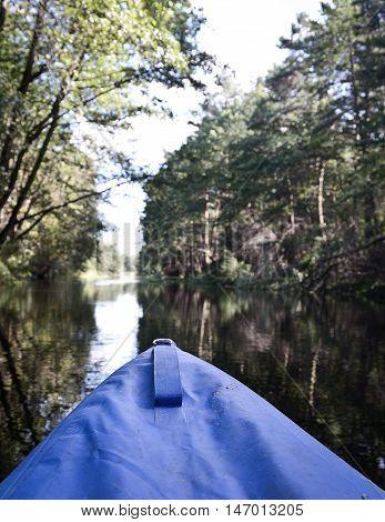 wild river rafting, kayaking in the summer