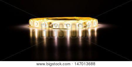 The LED tape shines d d d