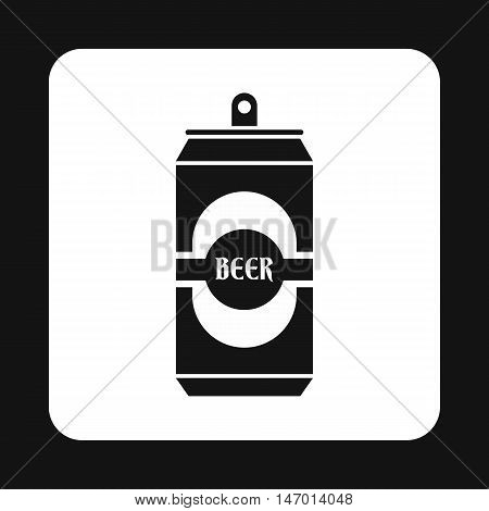 Aluminum beer icon in simple style isolated on white background. Drink symbol vector illustration