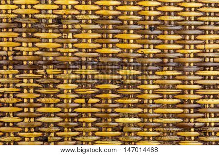 Old hand woven rattan panel from South East Asia