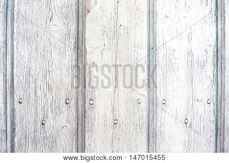 Old white vintage textured wooden surface. Can be used like backdrop. Rustic style.