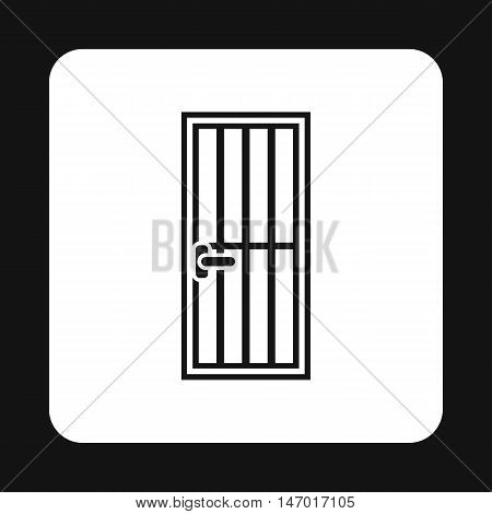 Lattice door icon in simple style isolated on white background. Interior symbol vector illustration