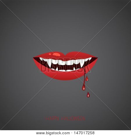 Vampire lips , vector illustration