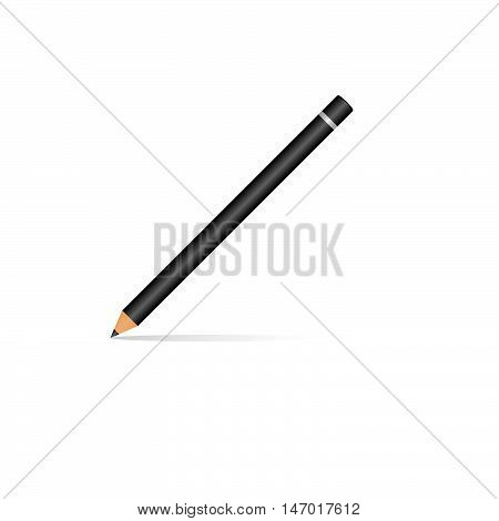 vector black pencil, pencil with blur, thin pencil