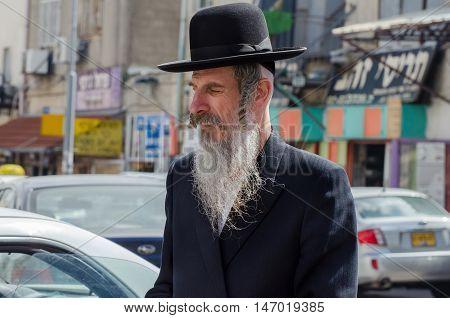 Orthodox Jewish Man Walk In Jewish .quarter. Jerusalem. Israel