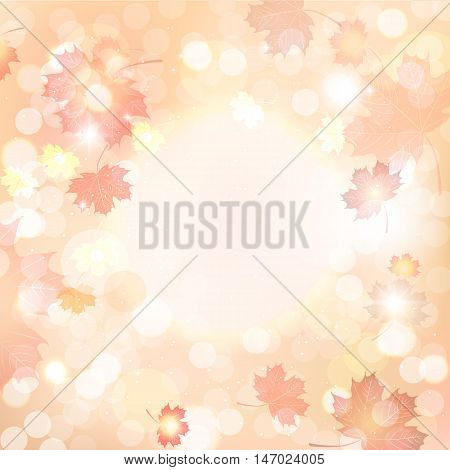 Vector illustration of autumn blurred background, deadwood.