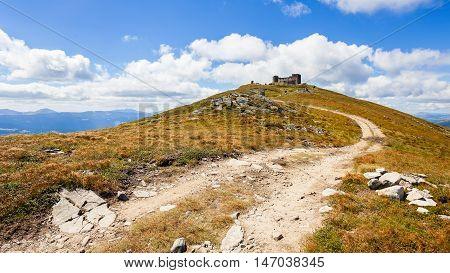 Tourist route to the mountain Pop Ivan Carpathian mountains