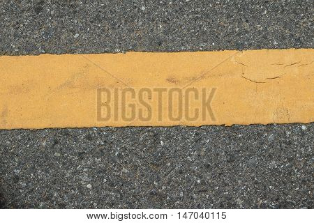 Asphalt texture with road markings background .