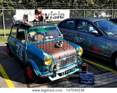Amsterdam, The Netherlands - September 10, 2016: Vintage Mini Special 1100 1977 On Display During Ca