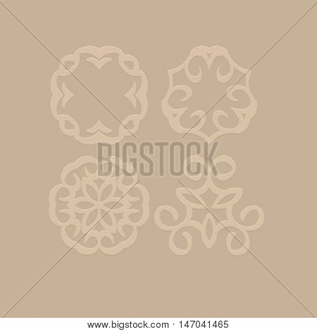 Vector logo design template and retro monogram concept in trendy style. Emblem for beauty and fashion industry