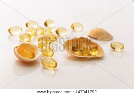 Fish Oil Capsules And Shells