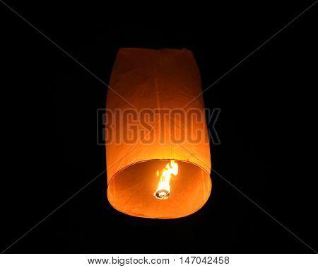 Floating Lantern on Yee Peng festival in Thailand