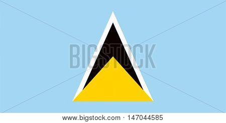 Vector Saint Lucia flag
