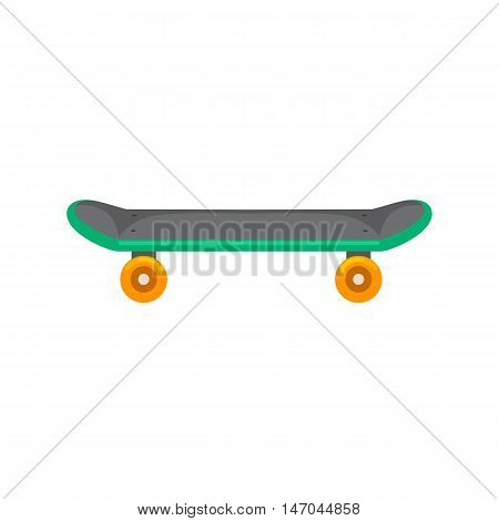 isolated skateboard with wheel for active lifestyle, extreme sport for youth activity, balance street transport vector illustration.